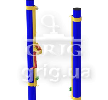 Волейбольные стойки регулируемые с натяжным механизмом