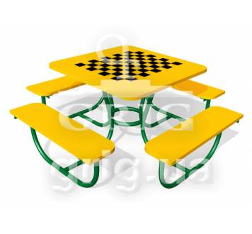 "Столик с лавками ""Шахматная доска"""