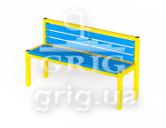 "Bench ""Standard with a back"" L 1500"