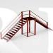 Двойная лестница для дрессировки
